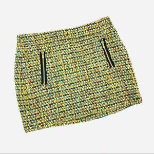 J. Crew wool tweed mini skirt multicolor